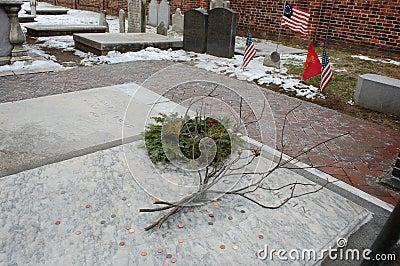 Benjamin Franklin s Grave, Philadelphia Editorial Image