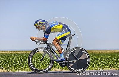骑自行车者达尼埃莱Bennati 编辑类照片