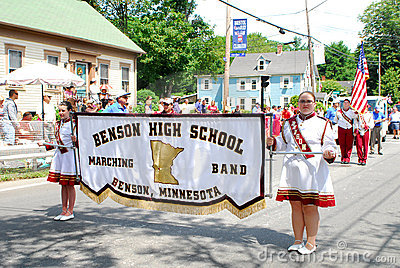 Benson High School Marching Band, Benson, MN Editorial Stock Image