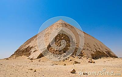 Bent pyramid at Dahshur, Cairo, Egypt