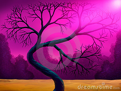 Bent Tree Digital Painting