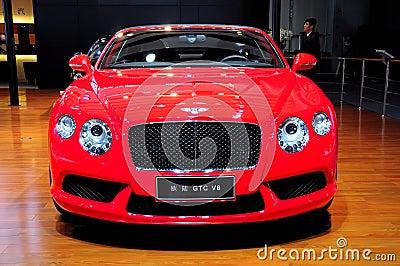 Bentley Continental GTC V8 Convertible sports car Editorial Stock Image