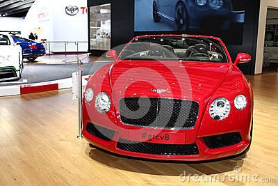 Bentley GT Convertible Editorial Stock Photo