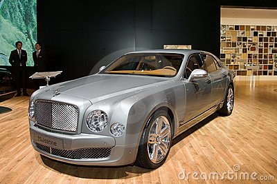 Bentley Mulsanne - Geneva Motor Show 2011 Editorial Stock Photo