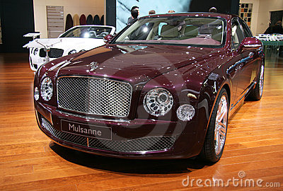 Bentley Mulsanne at Paris Motor Show 2010 Editorial Photo