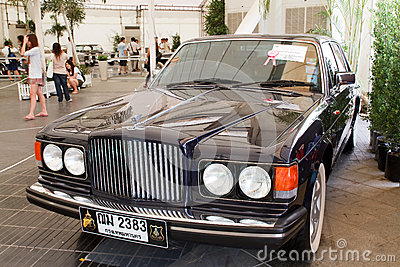 Bentley Mulsanne Turbo, Vintage cars Editorial Photo