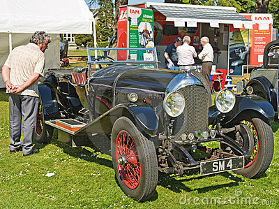 Bentley open tourer on show at Forres Theme day. Editorial Image