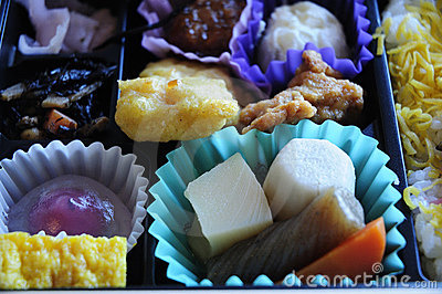 Bento box closeup