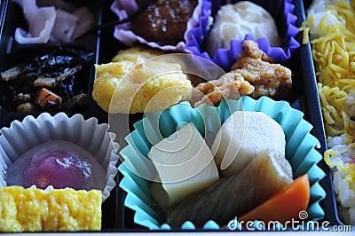 Bento box closeup