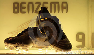 Benzema s shoes Editorial Stock Photo