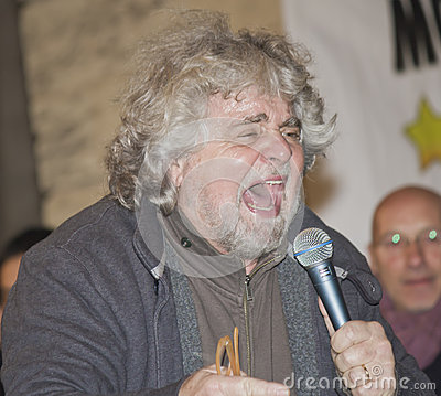 Beppe Grillo angry,screaming, Editorial Photo