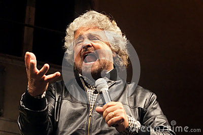 Beppe Grillo movement five stars Editorial Stock Photo