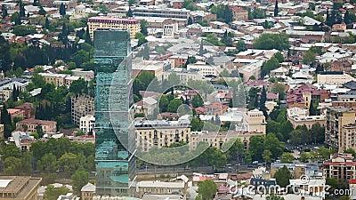 Berömda turist- dragningar i Tbilisi, handbok till huvudstad av Georgia, följd stock video