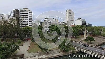 Berühmte Quadrate der Welt Vogelperspektive des Satzes der Quadrate bekannt als der Garten von Allah Rio de Janeiro Brasilien stock footage