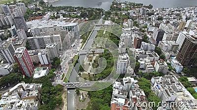 Berühmte Quadrate der Welt Vogelperspektive des Satzes der Quadrate bekannt als der Garten von Allah Rio de Janeiro Brasilien stock video
