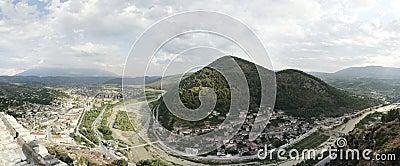 Berat, Albania panorama