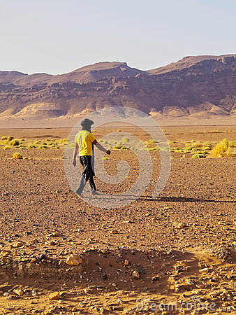 Berber Man on Zagora Desert in Morocco Editorial Image