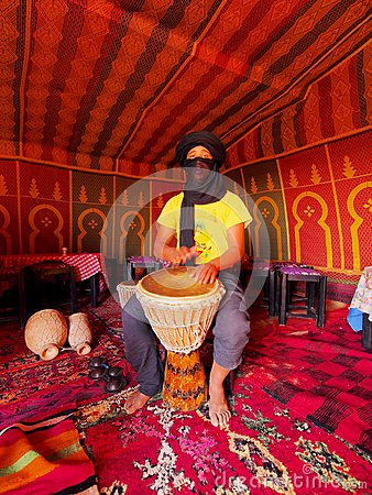 Berber Man on Zagora Desert in Morocco Editorial Photo