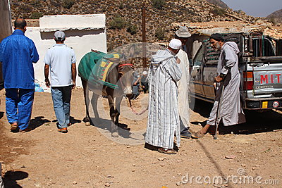 Berber market Editorial Stock Image