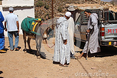 Berber market Editorial Stock Photo