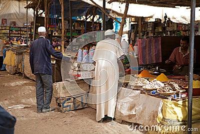 Berber men at the market Editorial Stock Photo