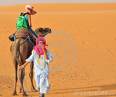 Berber people and turist in Morocco Editorial Photography