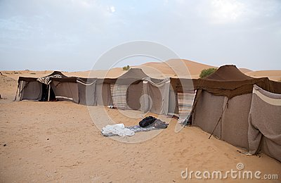 Berber tents in the desert