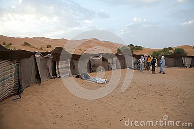 Berber tents in the desert Editorial Stock Photo