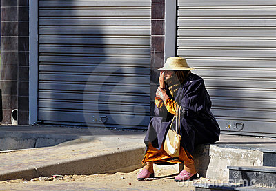 Berber woman in the street Editorial Image
