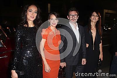 Berenice Bejo, Carmen Chaplin, Dolores Chaplin,Michel Hazanavicius Editorial Photo