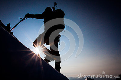 Berg het beklimmen