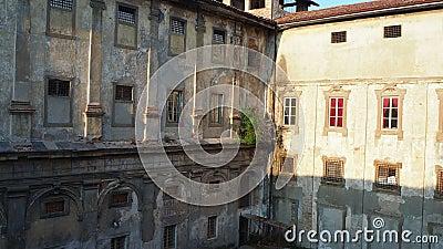 bergamo Италия Исторический комплекс Святого Agata, улучшает - как старые тюрьмы Бергама сток-видео
