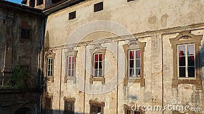 bergamo Италия Исторический комплекс Святого Agata, улучшает - как старые тюрьмы Бергама акции видеоматериалы