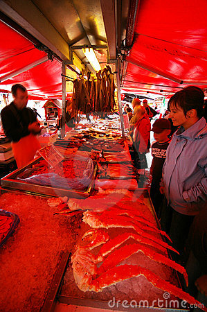 Bergen Fish Market Royalty Free Stock Photography - Image: 5195387