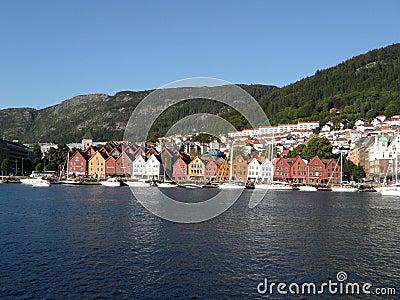 Bergen Norway Shoreline Editorial Image