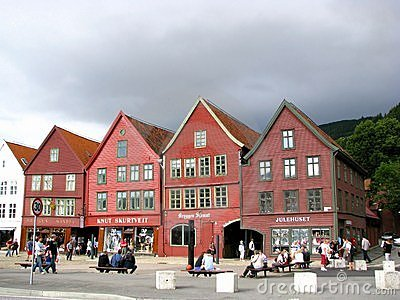 Bergen wooden houses Editorial Stock Image