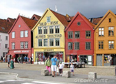 Bergen wooden houses Editorial Photo