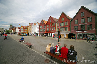 Bergen wooden houses Editorial Image
