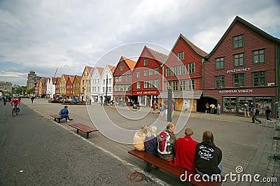 Bergen wooden houses Editorial Image