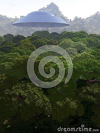 Bergsikt med UFO 3