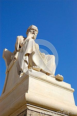 Berühmter Philosoph des Griechen