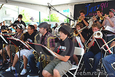 Berkeley High School Jazz Ensemble Editorial Stock Image