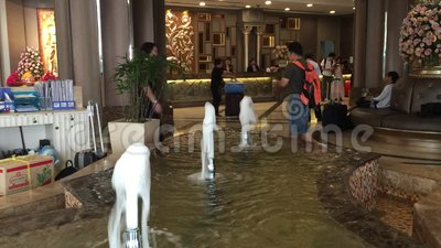 Berkeley-Hotel in Bangkok stock footage