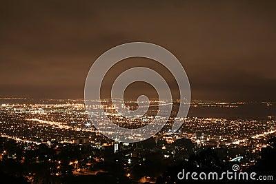 Berkeley at night