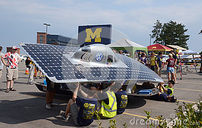 Berkeley solar car at American Solar Challenge Editorial Photography