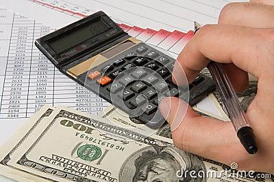 Beräkningen diagrams finanser