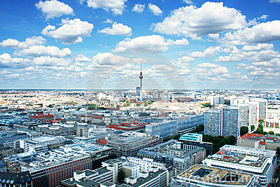 Berlin bird s-eye view
