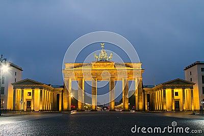 Berlin, Brandenburg Gate Stock Photo