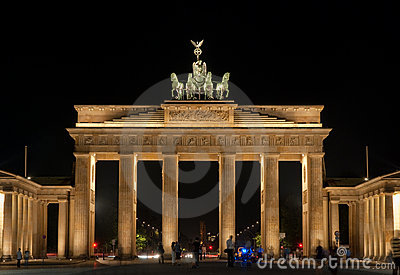 Berlin Brandenburger Tor Editorial Stock Photo