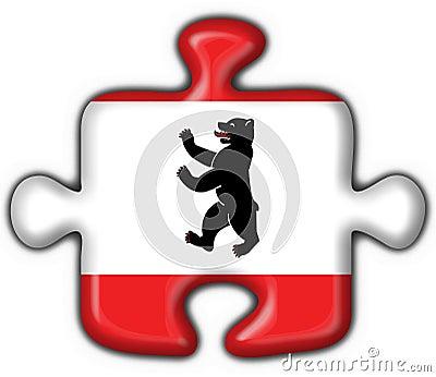 Berlin button flag puzzle shape